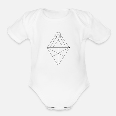 Triangle Triangles - Organic Short-Sleeved Baby Bodysuit