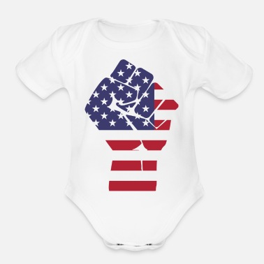 Fist fist - Organic Short-Sleeved Baby Bodysuit