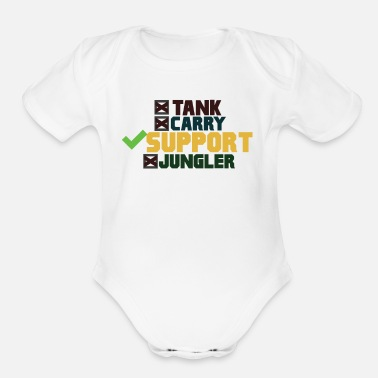 Legends SUPPORT League of Legends - Organic Short-Sleeved Baby Bodysuit