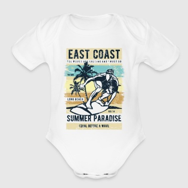 East Coast - Organic Short Sleeve Baby Bodysuit