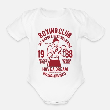 Punch Punch Out - Organic Short Sleeve Baby Bodysuit