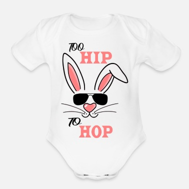 Hop Too Hip To Hop - Organic Short-Sleeved Baby Bodysuit