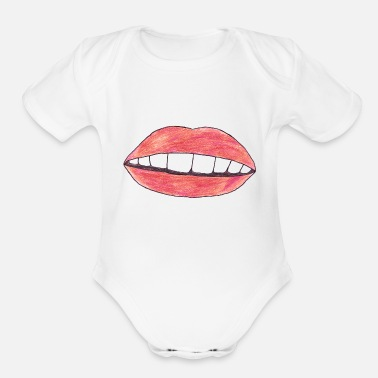Mouth - Organic Short-Sleeved Baby Bodysuit