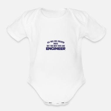 Builders Engineers Engineering Gift - Organic Short-Sleeved Baby Bodysuit