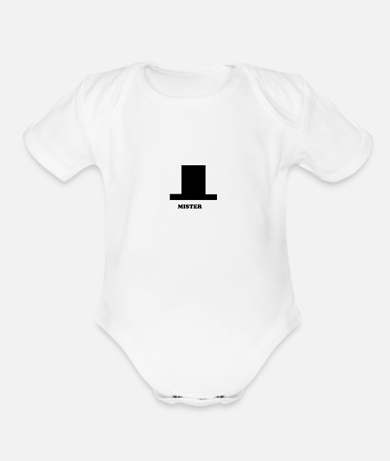 Legend Baby Clothing - Mister - Organic Short-Sleeved Baby Bodysuit white