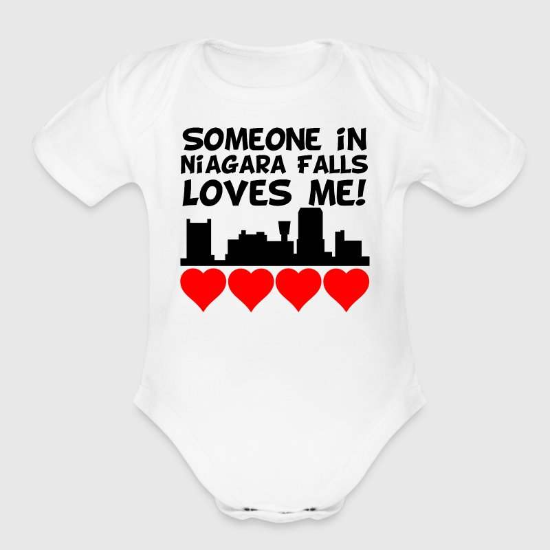 Someone In Niagara Falls New York Loves Me - Short Sleeve Baby Bodysuit