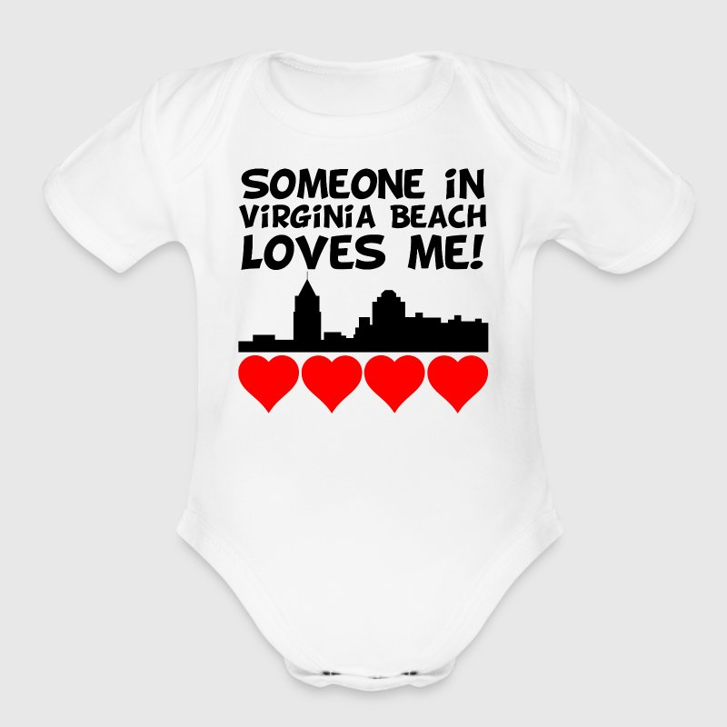 Someone In Virginia Beach Virginia Loves Me - Short Sleeve Baby Bodysuit