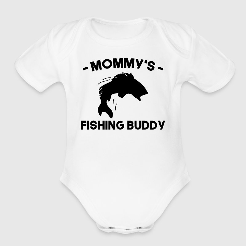 Mommy's Fishing Buddy - Short Sleeve Baby Bodysuit