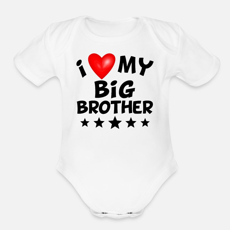 Love Baby Clothing - I Love My Big Brother - Short-Sleeved Baby Bodysuit white