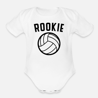 Volleyball Volleyball Rookie - Organic Short Sleeve Baby Bodysuit