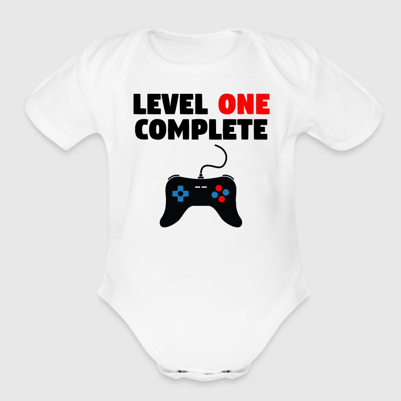 Level One Complete First Birthday - Organic Short Sleeve Baby Bodysuit