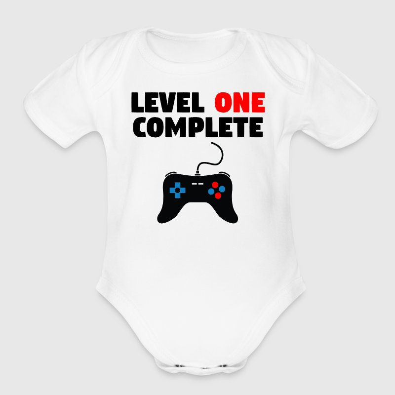 Level One Complete First Birthday - Short Sleeve Baby Bodysuit
