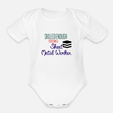 Worker Sheet Metal Worker - Organic Short-Sleeved Baby Bodysuit
