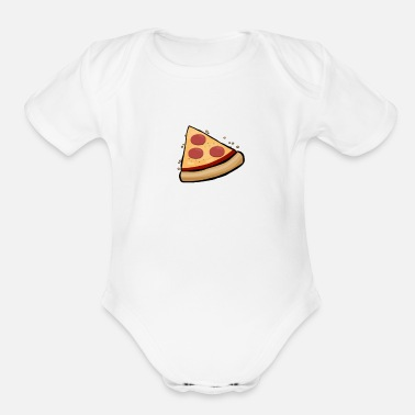 Pizza Funny Cute Pizza Slice Matching Shirt Couple Love - Organic Short Sleeve Baby Bodysuit