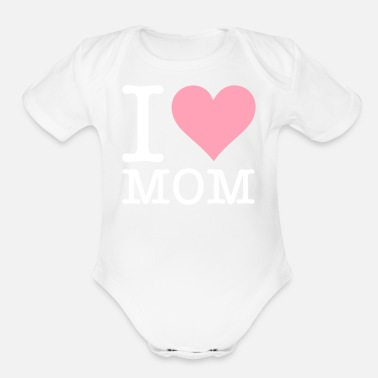 Mama S Favorite Daughter I Love My Mum! - Organic Short-Sleeved Baby Bodysuit