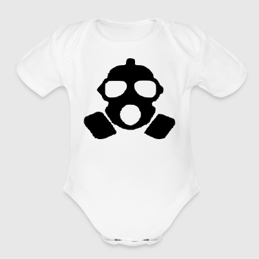 gas mask - Organic Short Sleeve Baby Bodysuit