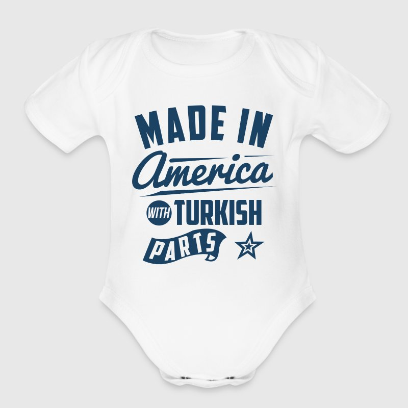 American Turkish - Organic Short Sleeve Baby Bodysuit