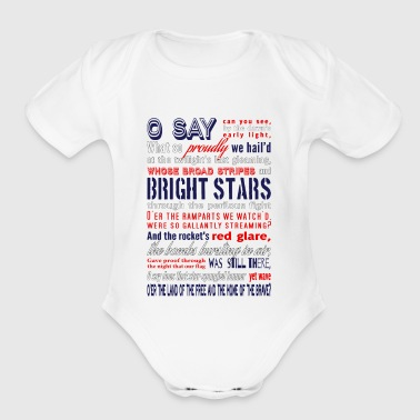 The Star-Spangled Banner - Organic Short Sleeve Baby Bodysuit