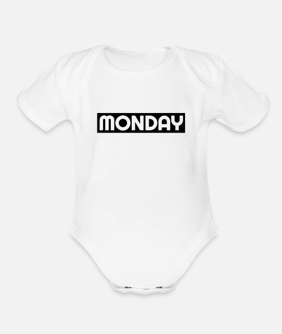 Frustrated Baby One Pieces - Monday morning frustrated - Organic Short-Sleeved Baby Bodysuit white