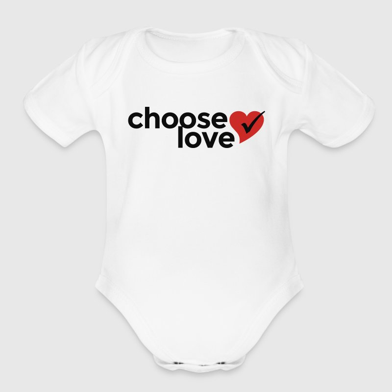 Choose Love - Organic Short Sleeve Baby Bodysuit