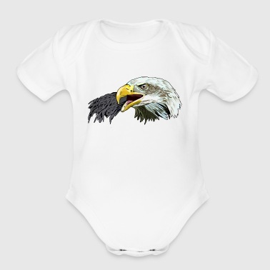 Eagle Head Eagle - Organic Short Sleeve Baby Bodysuit