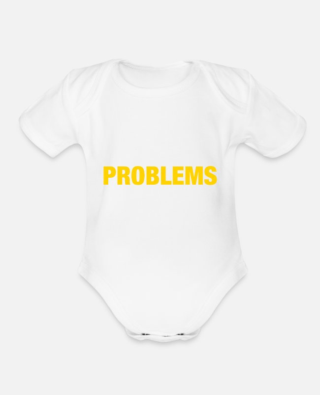 Quote Baby One Pieces - First World Problems (2015) - Organic Short-Sleeved Baby Bodysuit white