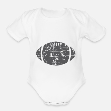 Distressed Distressed Football - Organic Short-Sleeved Baby Bodysuit