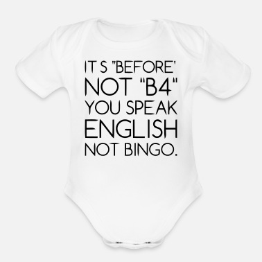 Language Language - Organic Short Sleeve Baby Bodysuit
