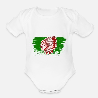 Native American Indian Native American Indians - Organic Short-Sleeved Baby Bodysuit