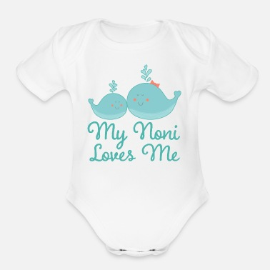 Happiness My Noni Loves Me Grandchild - Organic Short Sleeve Baby Bodysuit