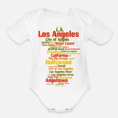 b6df9623c1f Los Angeles Los Angeles (L.A. Angeltown) - Organic Short-Sleeved Baby  Bodysuit