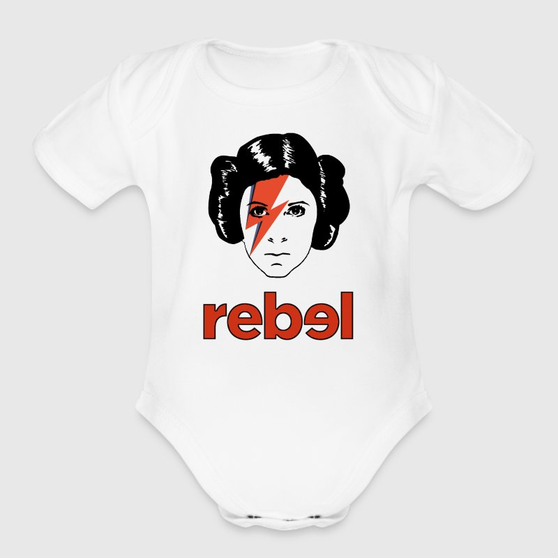 Rebel Princess - Short Sleeve Baby Bodysuit