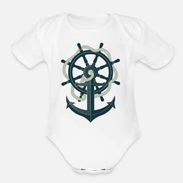 Anchor Anchor - Organic Short-Sleeved Baby Bodysuit