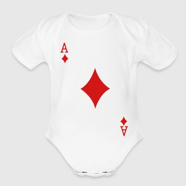Ace Playing Card - Organic Short Sleeve Baby Bodysuit