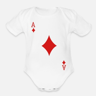 Card Ace Playing Card - Organic Short-Sleeved Baby Bodysuit