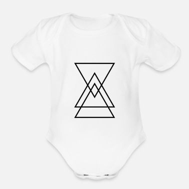 Triangle Triangle in a triangle - Organic Short-Sleeved Baby Bodysuit