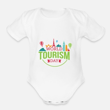 Tourism tourism - Organic Short-Sleeved Baby Bodysuit