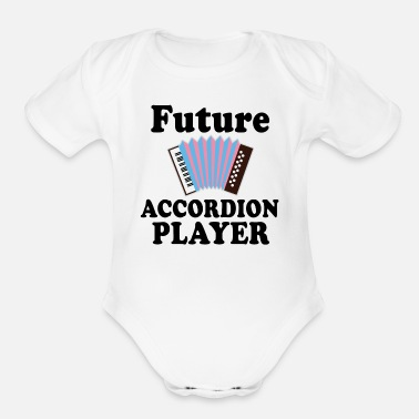 Player Future Accordion Player Music - Organic Short-Sleeved Baby Bodysuit