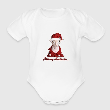 Merry whatever - Organic Short Sleeve Baby Bodysuit