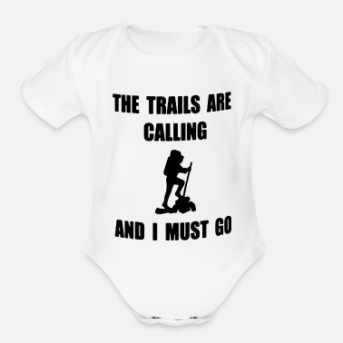 Trail The trails - Organic Short-Sleeved Baby Bodysuit