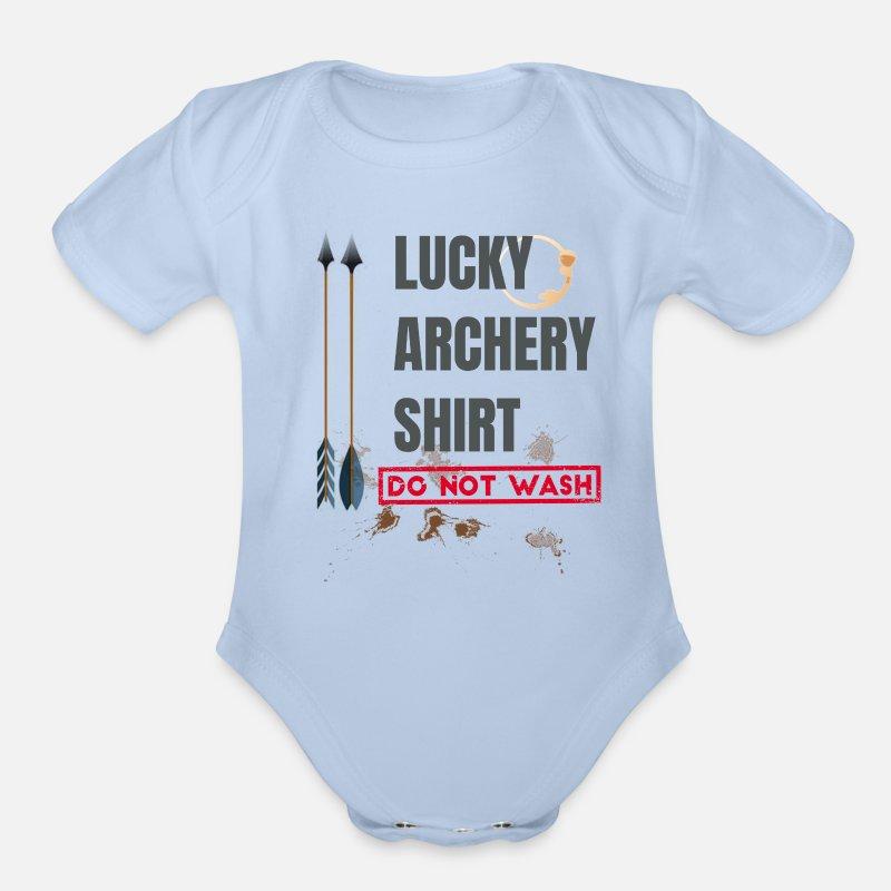 468fdf257 Archery Shirt Lucky Archer T Shirt for Kids Organic Short-Sleeved Baby  Bodysuit   Spreadshirt