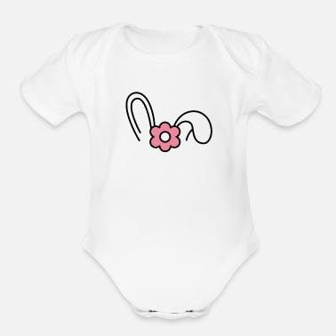 Peep Easter - Organic Short-Sleeved Baby Bodysuit