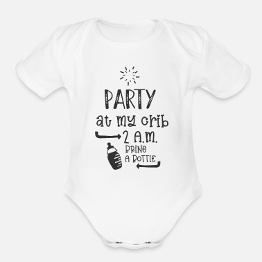 Party Baby Party Night - Organic Short-Sleeved Baby Bodysuit