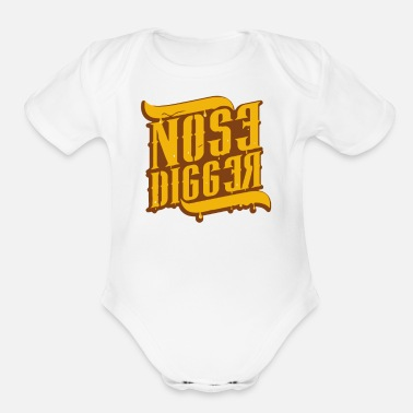 Nose Nose Digger - Organic Short-Sleeved Baby Bodysuit