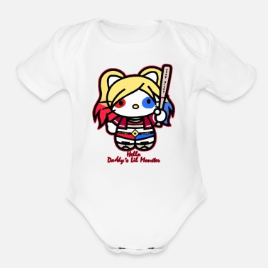 Monster Daddy s Lil Monster - Organic Short Sleeve Baby Bodysuit