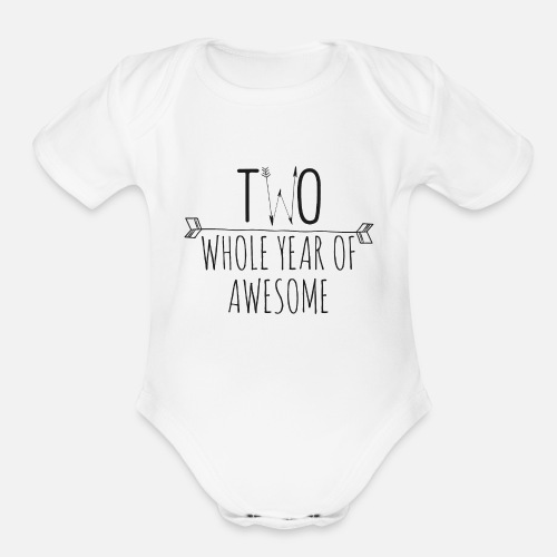 Organic Short Sleeved Baby Bodysuit2nd Birthday Shirt Personalized