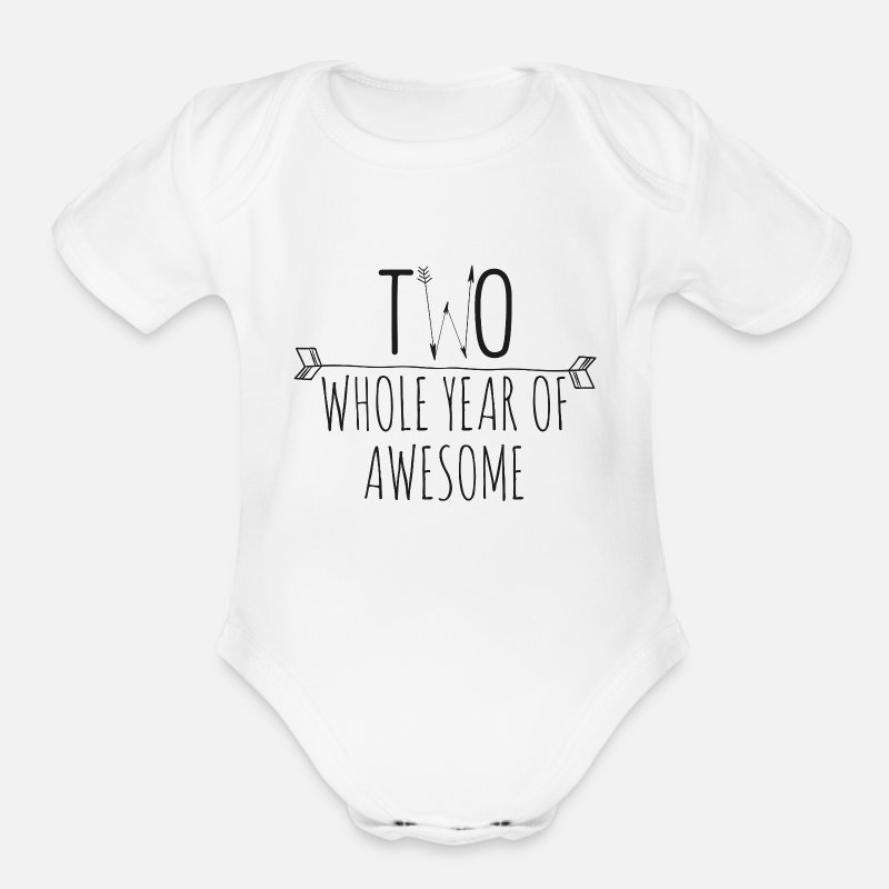 2nd Birthday Shirt Personalized Organic Short Sleeved