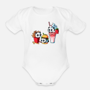 Meal COMBO MEAL - Organic Short-Sleeved Baby Bodysuit