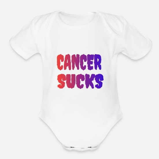 Sucks Baby Clothing - Cancer Sucks - Organic Short-Sleeved Baby Bodysuit white