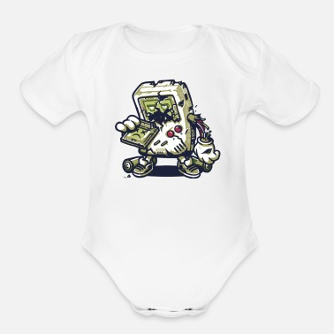 Zomboy Attacks 2 - Organic Short-Sleeved Baby Bodysuit